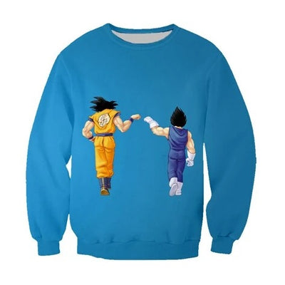 Goku and Vegeta Saiyan Sweater - Kurama Anime Stuff