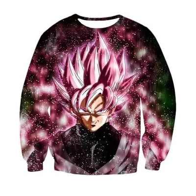 Goku Black Rose Sweater - Kurama Anime Stuff