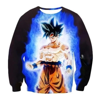 Goku Ultra Instinct Sweatshirt - Kurama Anime Stuff