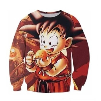 Kid Goku Sweater - Kurama Anime Stuff