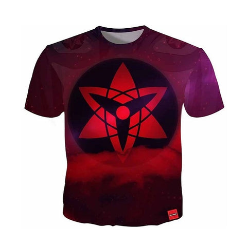 Mangekyou Sharingan Eyes T-Shirt - Kurama Anime Stuff