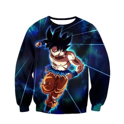 Mastered Ultra Instinct Goku Sweater - Kurama Anime Stuff