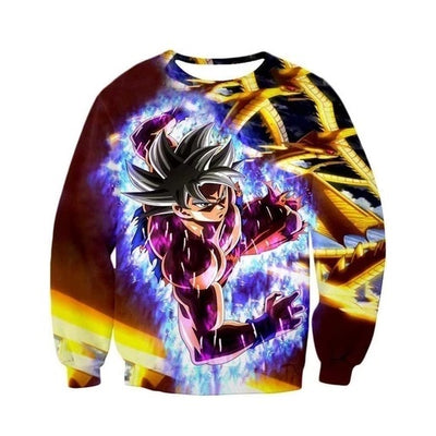 Mastered Ultra Instinct Goku Sweatshirt - Kurama Anime Stuff