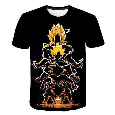 Goku T-Shirt - Kurama Anime Stuff