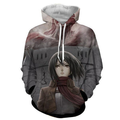 Attack on Titan Pullover Hoodie - Kurama Anime Stuff