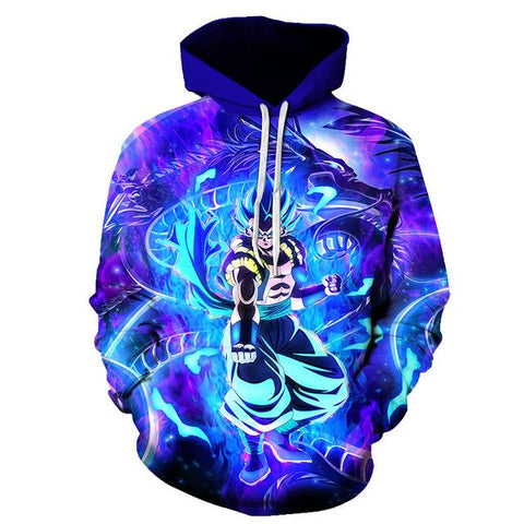 Dragon Ball Super Vegito Blue Hoodie - Kurama Anime Stuff
