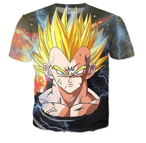Majin Vegeta T-Shirt - Kurama Anime Stuff