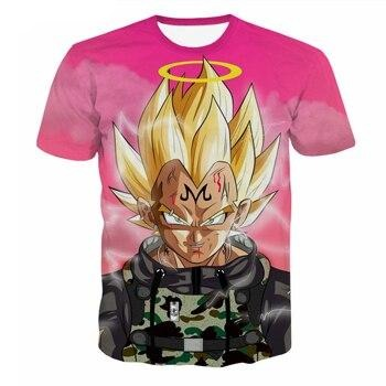 Majin Vegeta Champion T-Shirt - Kurama Anime Stuff
