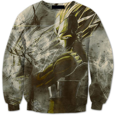 Vegeta Sweater - Kurama Anime Stuff