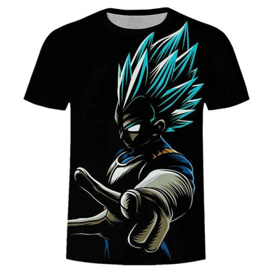Vegeta Blue T-Shirt - Kurama Anime Stuff