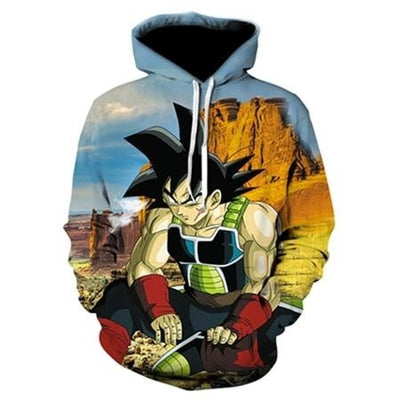 Bardock The Saiyan Race Hoodie - Kurama Anime Stuff