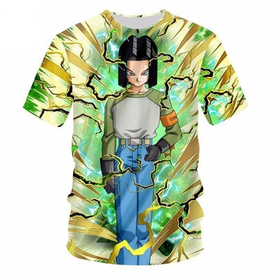 Android 17 T-Shirt - Kurama Anime Stuff