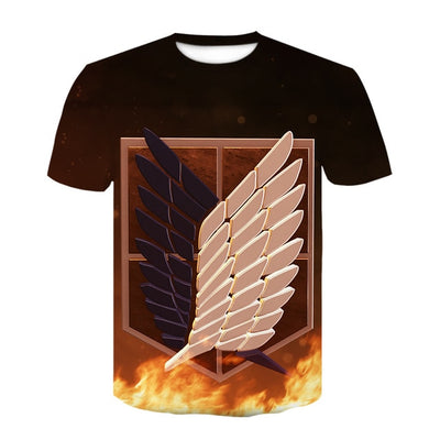 Attack on Titan Wings of Freedom T-Shirt - Kurama Anime Stuff
