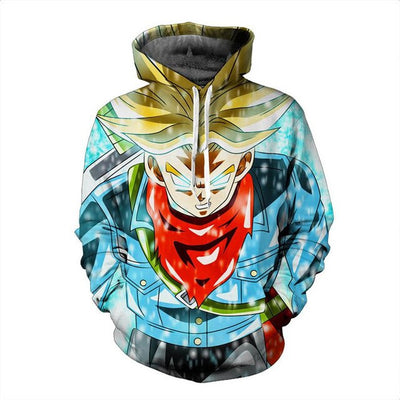 Trunks Hoodie - Kurama Anime Stuff