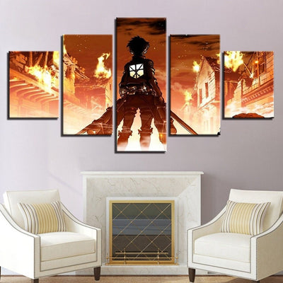 AOT Eren Yeager Anime Wall Art