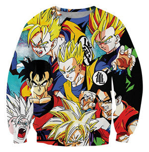 Evolution of Gohan Sweatshirt - Kurama Anime Stuff