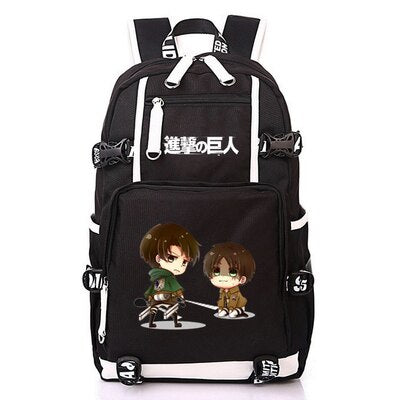 AOT Chibi Eren And Levi Backpack