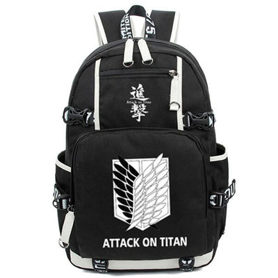 AOT Wings of Freedom Black and White Backpack