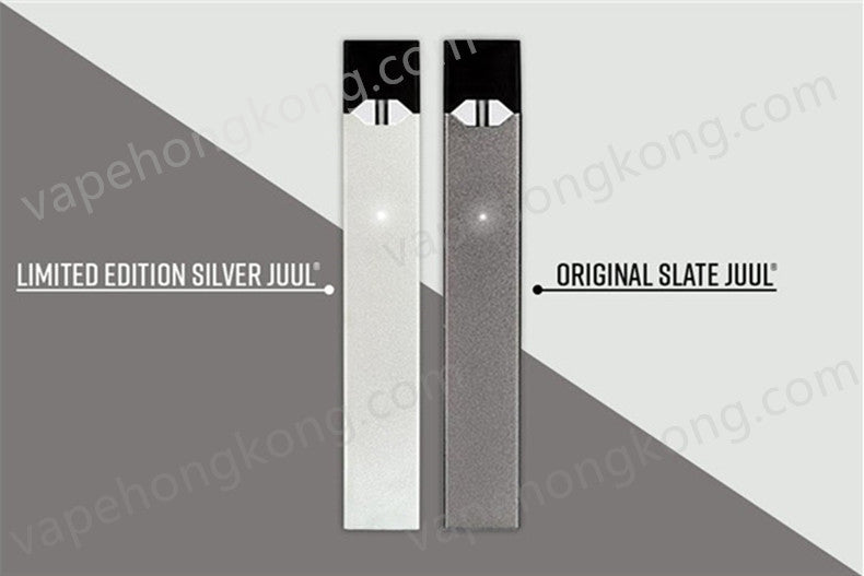 Juul device silver and black