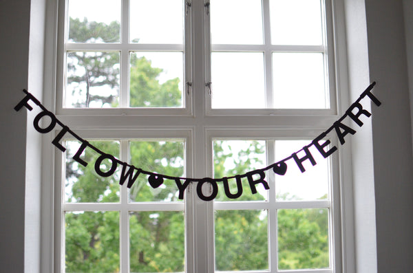 DIY Word Banner at Our Kid