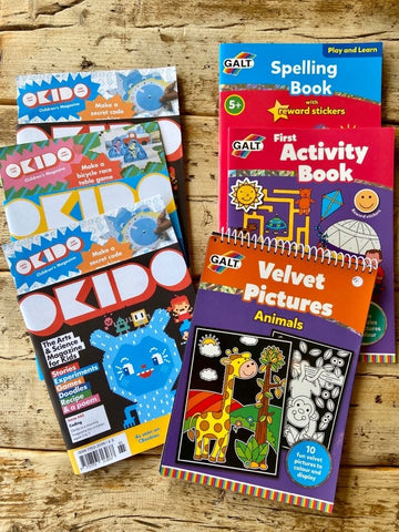 Our Kid easy activity books and magazines including Okido