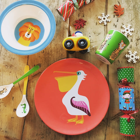 Toddler Table Settings featuring Colourful Creatures at Our Kid