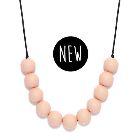 LARA AND OLLLIE - Silicone Teething Necklace Blush Round