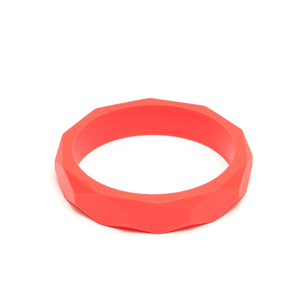 LARA AND OLLLIE - Bracelet Silicone Bangle Coral
