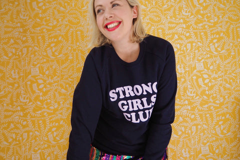 MUTHA.HOOD - Strong Girls Navy Sweatshirt Jumper (Mum)