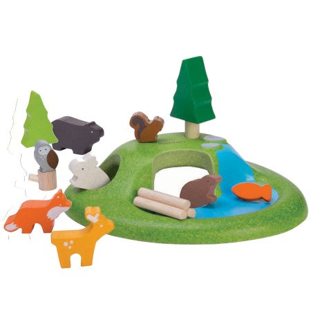 PLAN TOYS - Animal Set Wooden Toy
