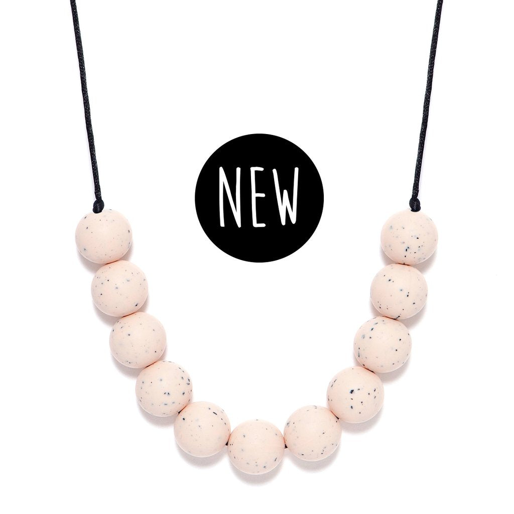 LARA AND OLLLIE - Silicone Teething Necklace Peony Round