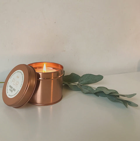 PUR CANDLES - Warm Candle Limited Edition Rose Gold Tin