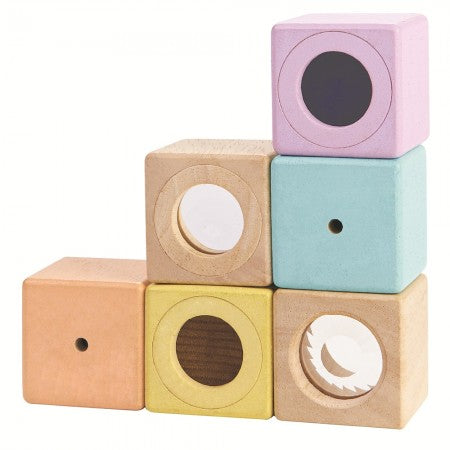PLAN TOYS - Pastel Sensoring Blocks Wooden Toy