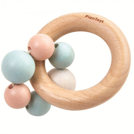 PLAN TOYS - Wooden Pastel Beads Rattle