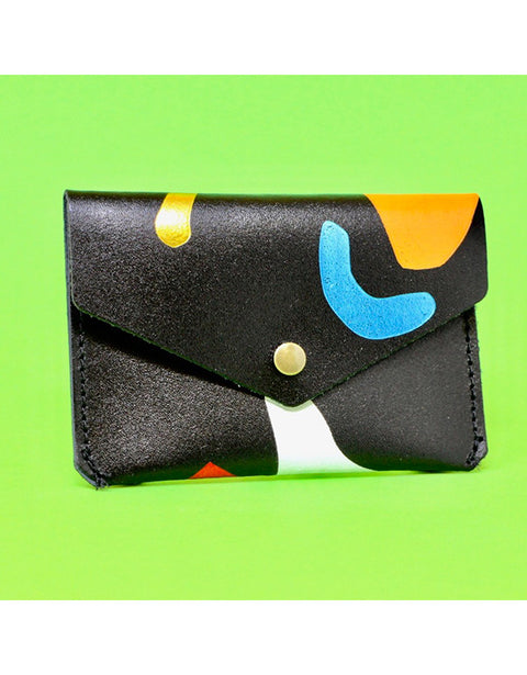 Ark - Black Abstract Popper Purse