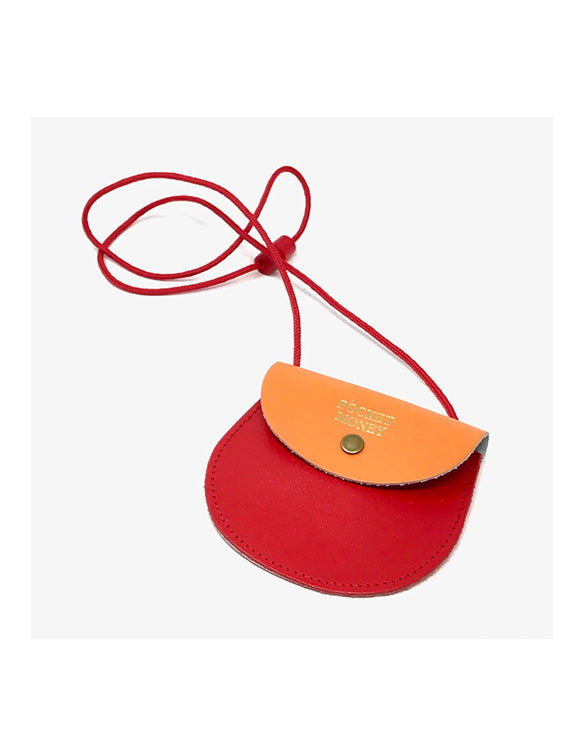 Ark - Red & Orrange Two Tone Pocket Money Purse
