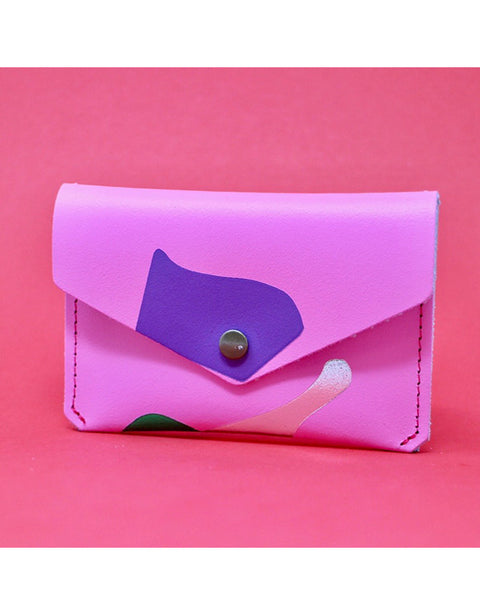Ark - Pink Abstract Popper Purse