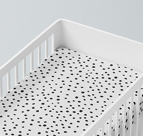 Mama Shack - Dotty Muslin Fitted Cot Sheet