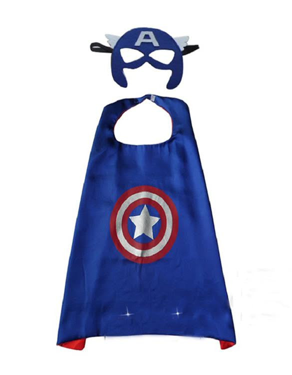 Superhero Cape and Mask - Captain America