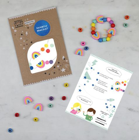 COTTON TWIST- Make Your Own Rainbow Bracelet Craft Kit