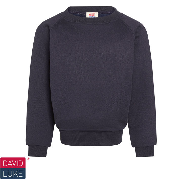 David Luke - Round-neck Sweatshirt  – Navy