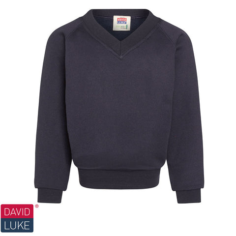 David Luke - V-neck Sweatshirt  – Navy