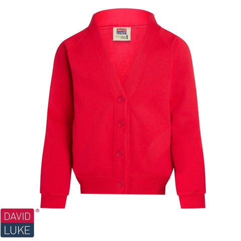 David Luke - School Uniform Cardigan  – Red