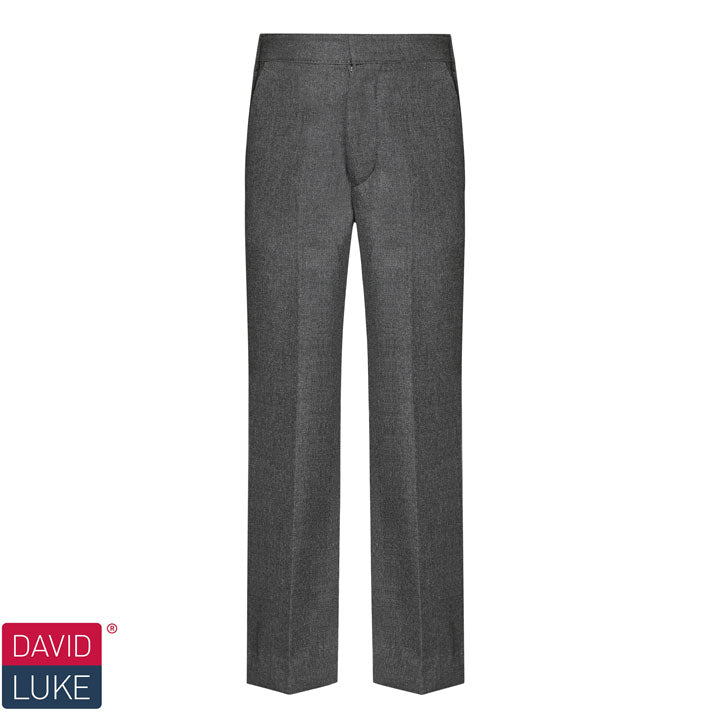 David Luke - Boys Slim Fit, Pull-up Trousers – Grey
