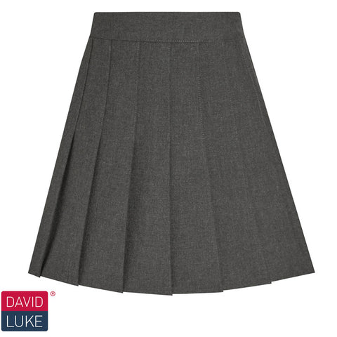 David Luke - Girls Stitched Down Knife Pleat Skirt – Grey