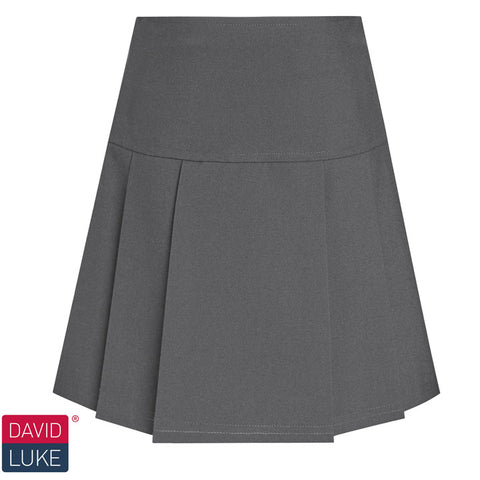 David Luke - Girls Drop Waist Pleated Skirt – Grey