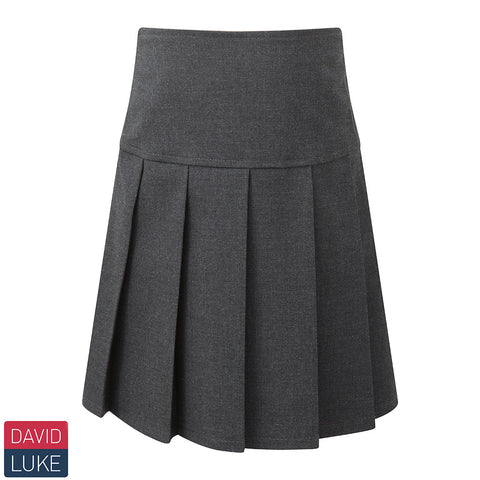 David Luke - Girls Drop Waist Knife Pleat Skirt – Grey