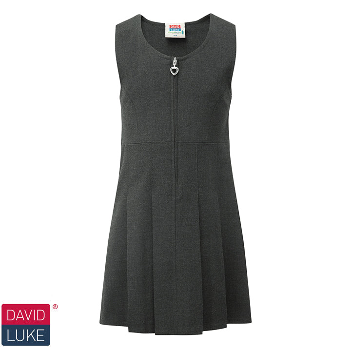 David Luke - Girls Pinafore Dress – Grey
