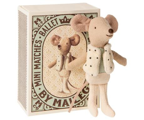 MAILEG - Dancer in Matchbox, Little Brother Mouse