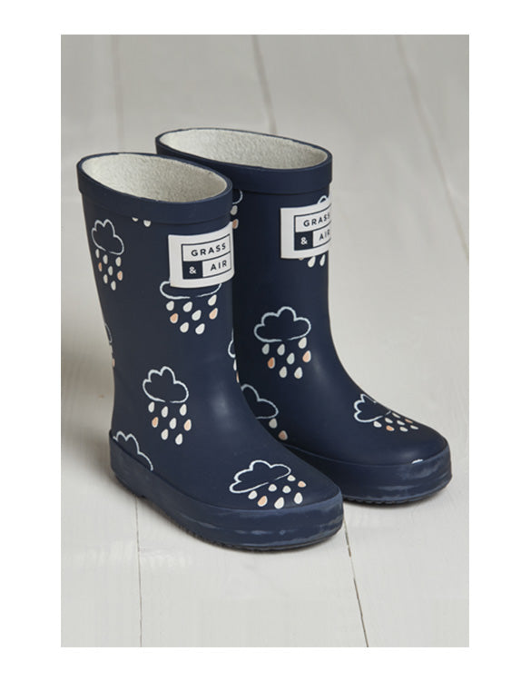 GRASS & AIR - Infant Wellies Navy